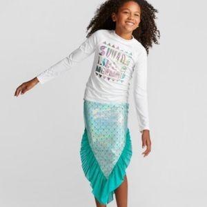 NWT: Cat & Jack size 10-12 Plus mermaid skirt tail